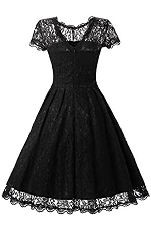 c752d40ed8a78 JH DRESS Women s Short Cap Sleeve Lace Prom Dresses Formal Retro Vintage  Swing Party Cocktail Dresses