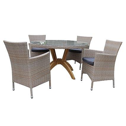 Salon de jardin VANDA - table et fauteuil de jardin - résine ...