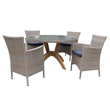 Salon de jardin VANDA - table et fauteuil de jardin - résine tressée ...