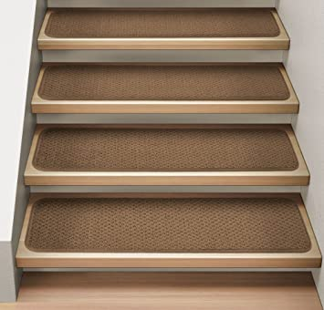 stair carpet treads uk ireland wool set attachable indoor toffee brown in