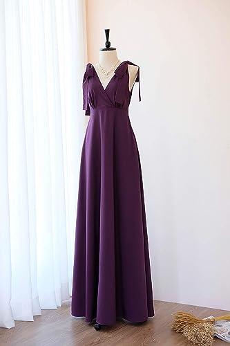 b0c6ae4e54b Amazon.com  Purple Plum dress Plum Long bridesmaid dress Wedding dress  Floor length Plum Prom dress  Handmade