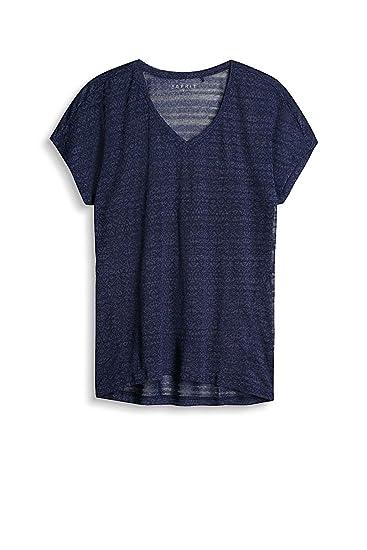 Esprit Sports Damen Sport Shirt 017ei1k009 E Dry Blau Navy 3 402