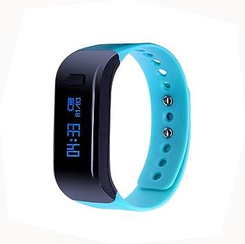 Salud Fitness Tracker, qimaoo Bluetooth V4.0 deportes Muñequera Pulsera inteligente inteligente reloj llamada