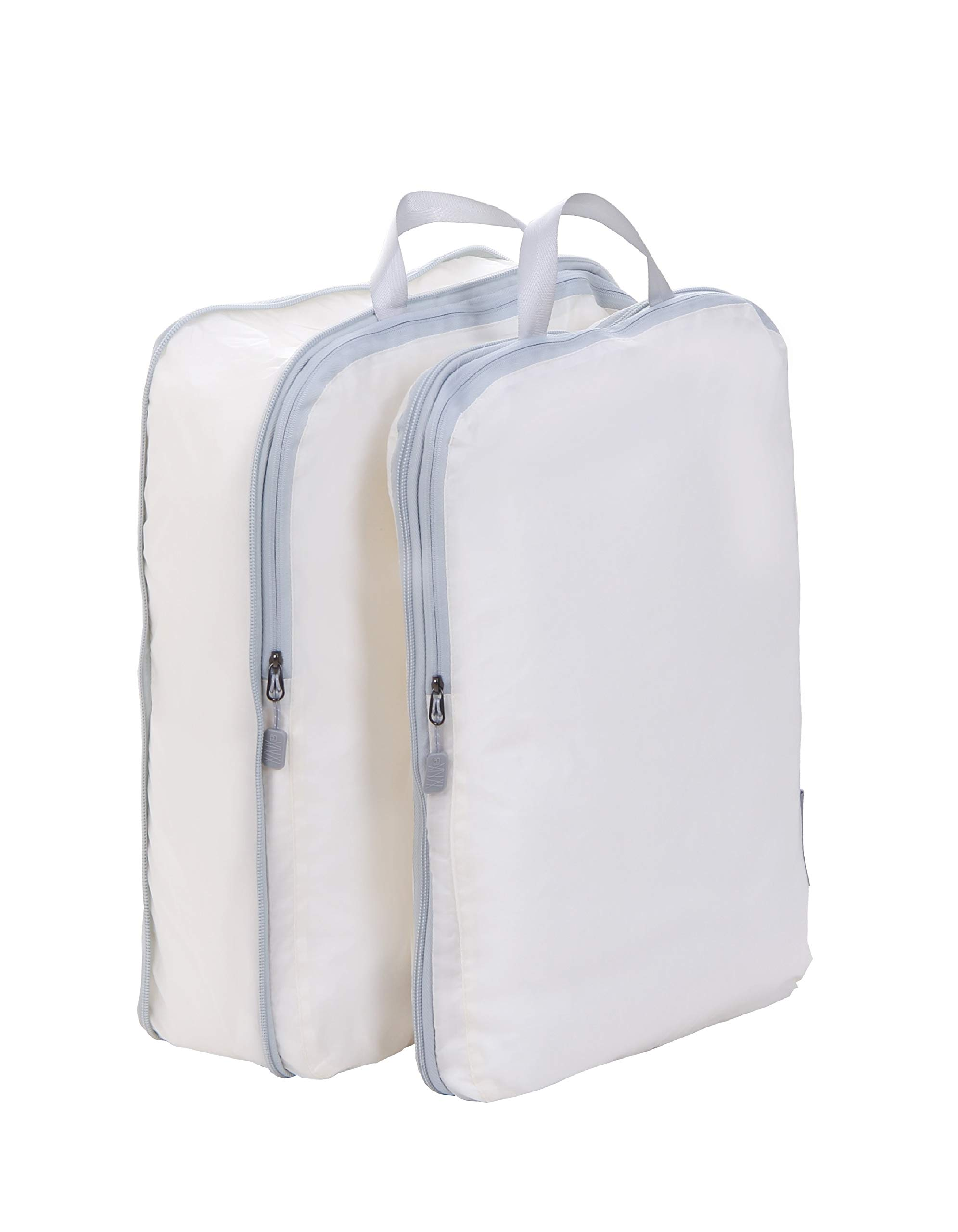 Compression Packing Cubes, JJ POWER Travel Backpack Organizers X-Large 2 Set (Two set- Beige)
