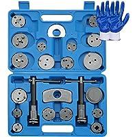 ATPEAM Juego de 24 herramientas de pinza de freno de disco, kit de herramientas para reinicio de pastillas de freno