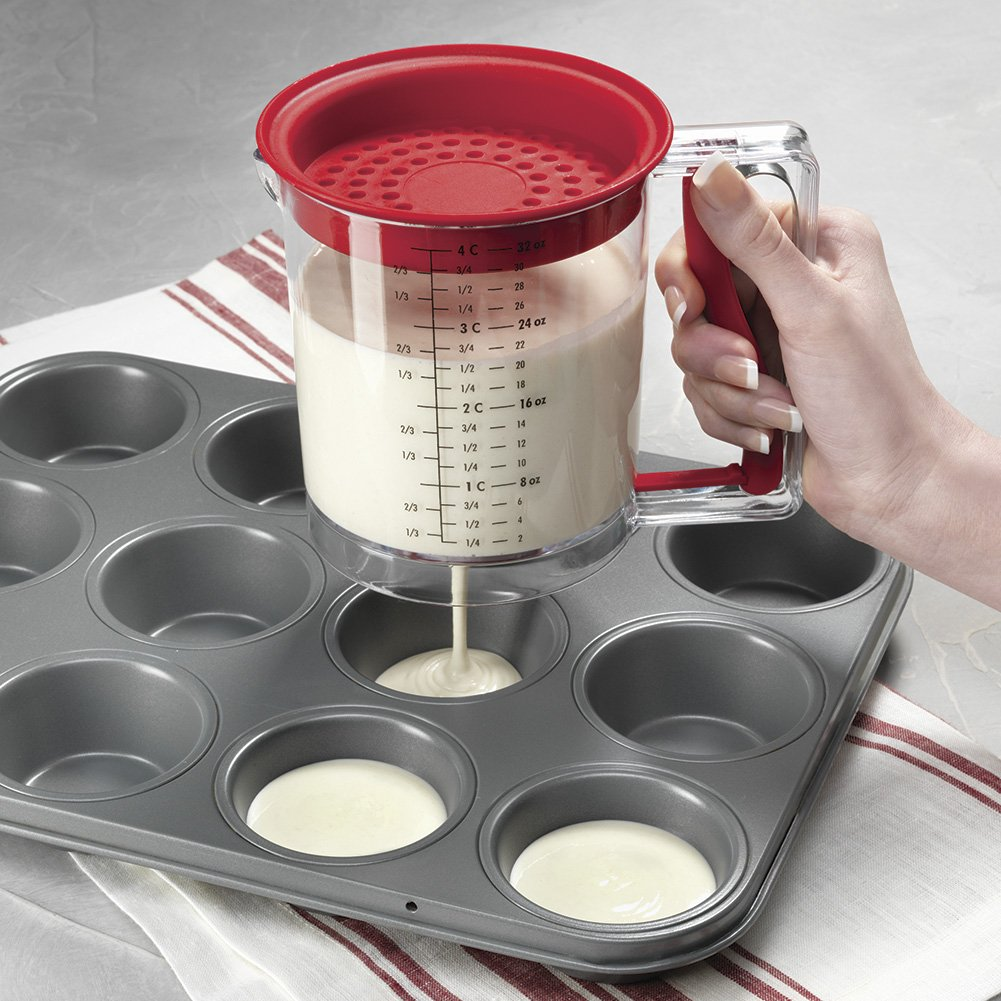 Easy Release Batter & Gravy Grease Separator, 4 Cup Capacity by Dawhud Direct