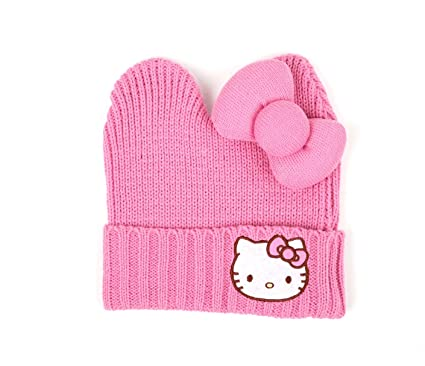 Image Unavailable. Image not available for. Color  Hello Kitty Pink Knit Hat  ... 043090ca4d3