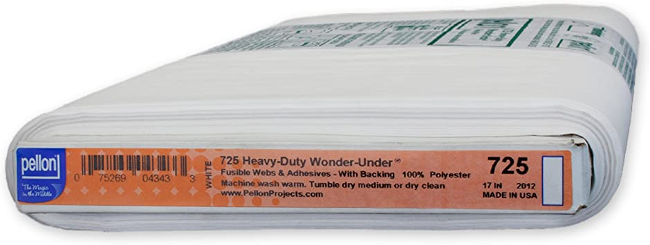 Lot of 5 HALF YARD CUTS Pellon Heavy Wonder Under Fusible Web 2.5 Yards Total