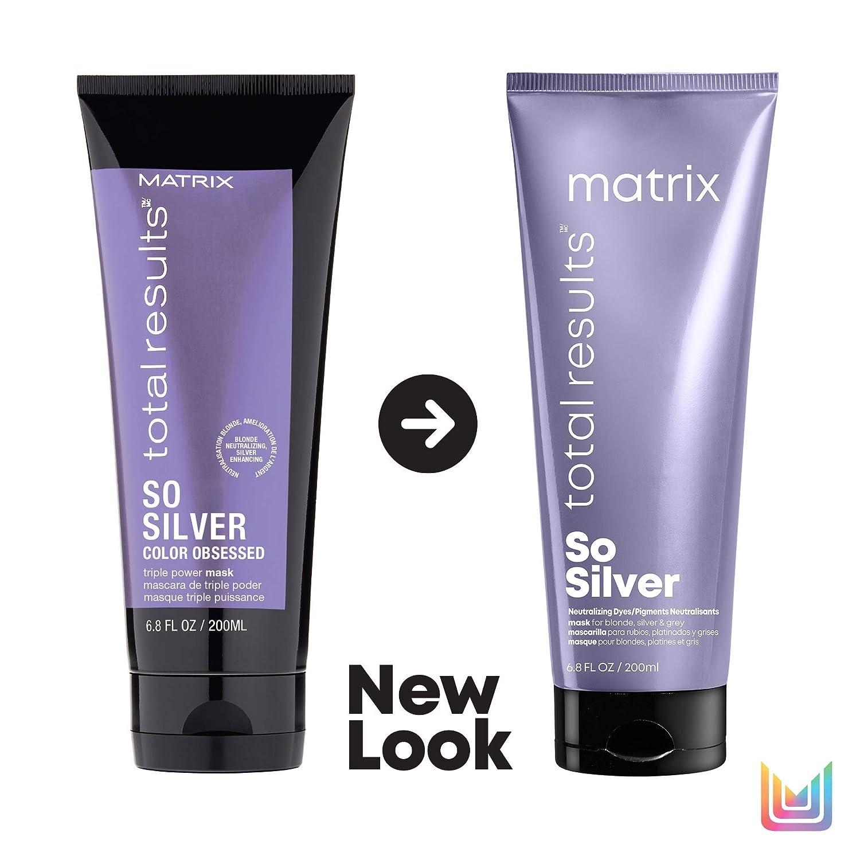 Matrix Mascarilla So Silver Neutralizadora De Cabellos Rubios, 200 ml
