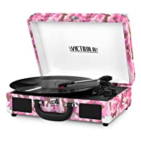 Deals on Victrola Vintage 3-Speed Bluetooth Suitcase Turntable