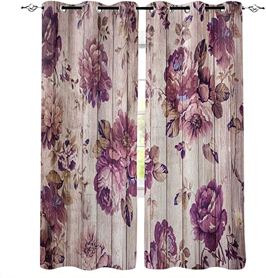 SIGOUYI Modern Privacy Semi Sheer Curtains Fabric Window Treatment