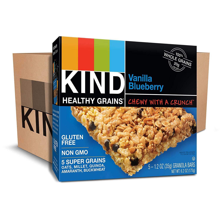 KIND Healthy Grains Bars, Vanilla Blueberry, Non GMO, Gluten Free, 1.2 oz, (150 Bars)