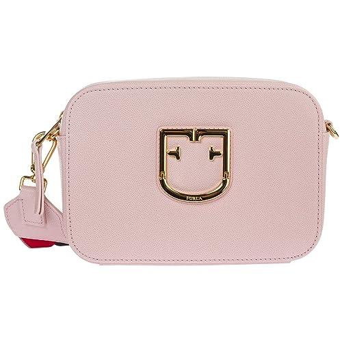 molto carino 81c30 cd725 FURLA Borsa a tracolla Brava mini in pelle rosa: Amazon.it ...