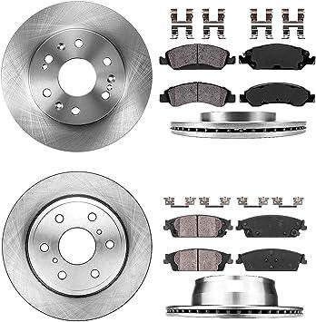 Front+Rear Drill Slot Brake Rotors /& Ceramic Pads For Chevy Escalade Silverado