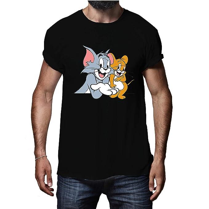 Tom and Jerry Cartoon Hand Shake Grey T-Shirt