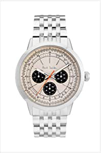 Paul Smith Men's Cream Dial Color Stainless Steel Band Watch - P10003