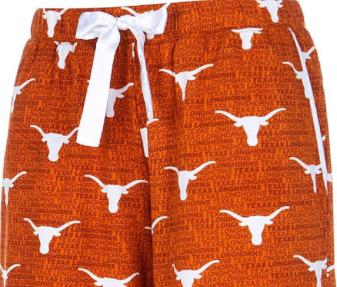 Texas Longhorns Adult NCAA Hardy Cotton Flannel Lounge Pant
