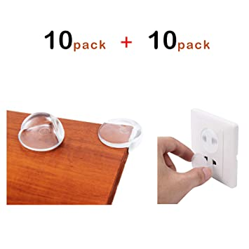 Vdealen Childproof Set(20Pcs) - 10 Pack Baby Safety Corner Guards with 3M Adhesive Tape and 10 Pack...
