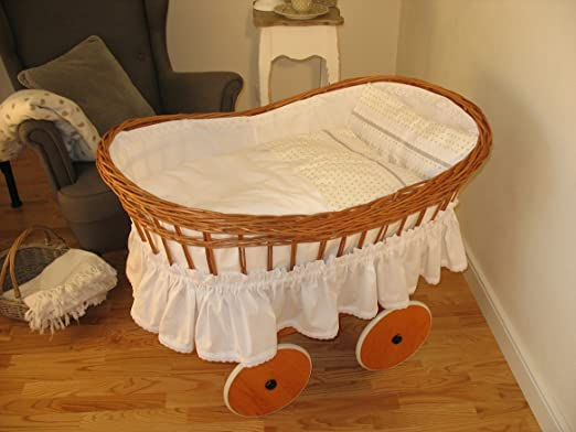 Stubenwagen wiege weidenkorb für neugeborenes mit
