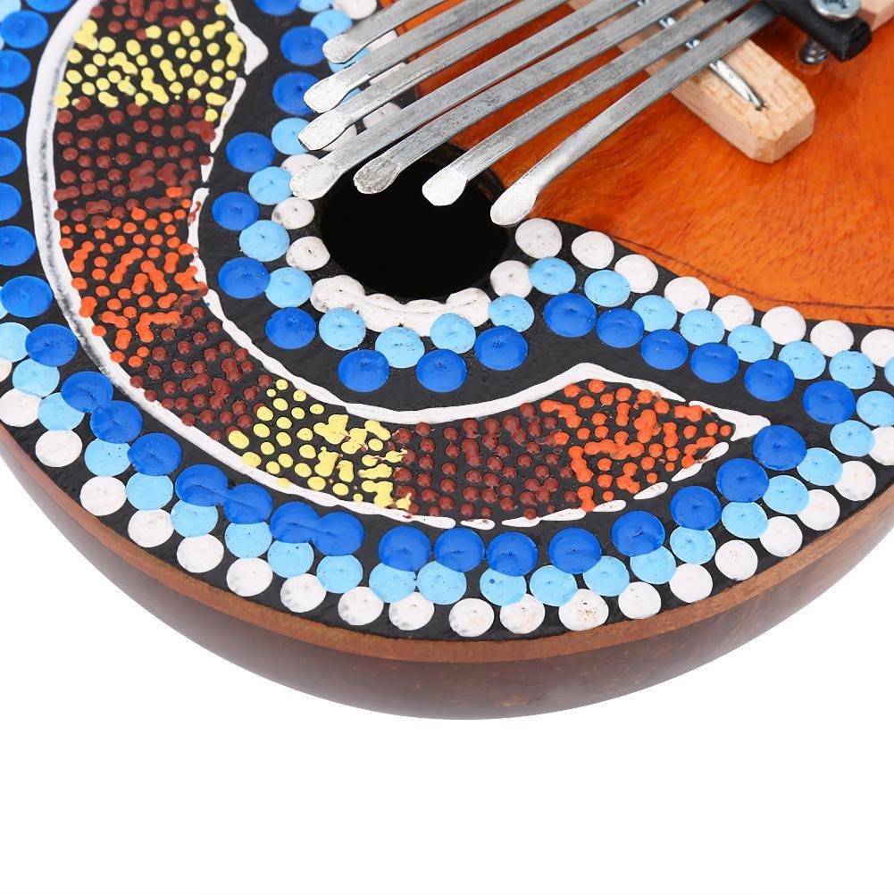 VGEBY 7 Key Kalimba Thumb Piano, Tuneable Coconut Shell Finger Thumb Piano by VGEBY (Image #8)