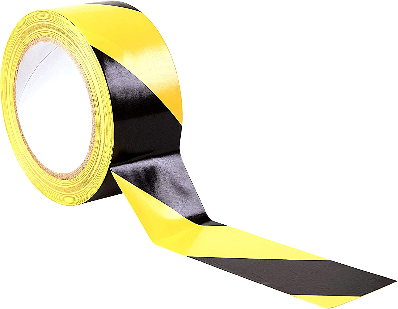 Cinta de advertencia de peligro - 33 M x 50 mm - Cinta adhesiva de adhesivo - alta calidad rollo por gocableties (Negro/Amarillo)