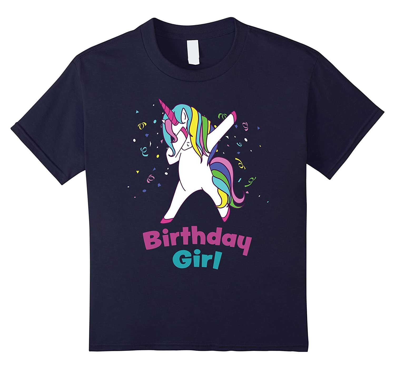 Dabbing Unicorn Birthday Party Shirt-Awarplus