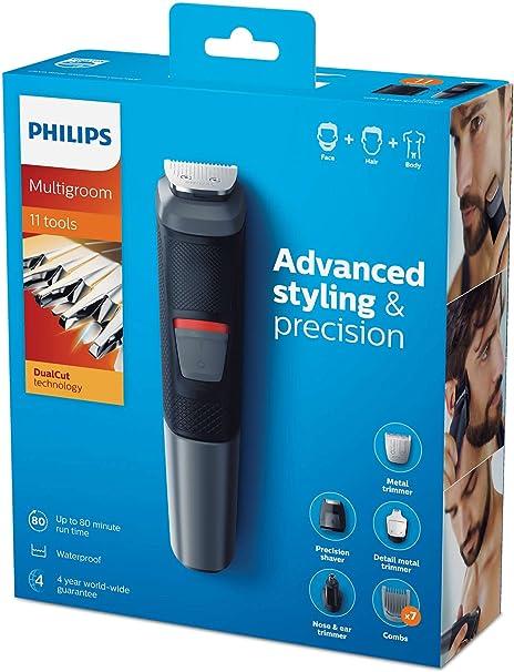 Philips MG5730 groming Kit Serie 5000 recortador impermeable 11 en 1 Barba, Cabello y Cuerpo: Philips: Amazon.es ...