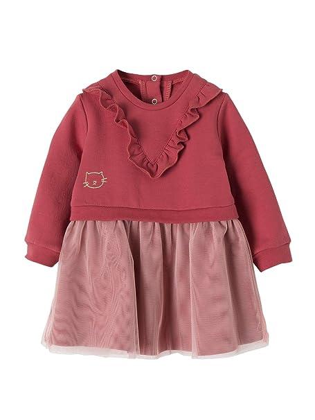 db70261e1 VERTBAUDET Vestido bebé Niña de Felpa y Tul  Amazon.es  Ropa y accesorios