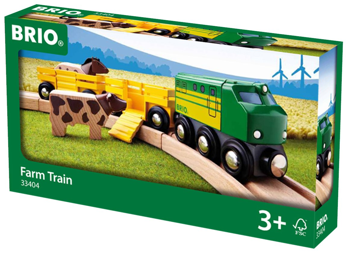 Brio Farm Animal Toy Train - Made with European Beech Wood