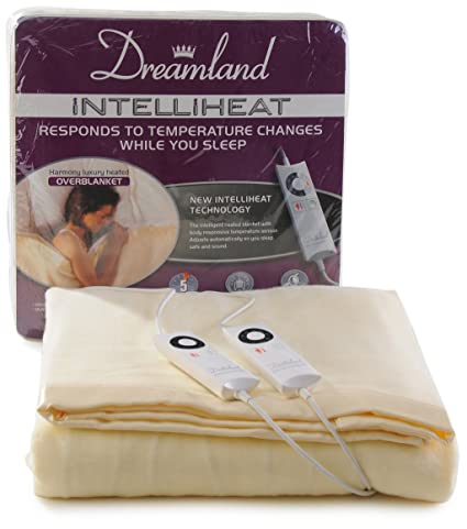 Dreamland Intelliheat Manta eléctrica con Control Dual eléctrica, doble