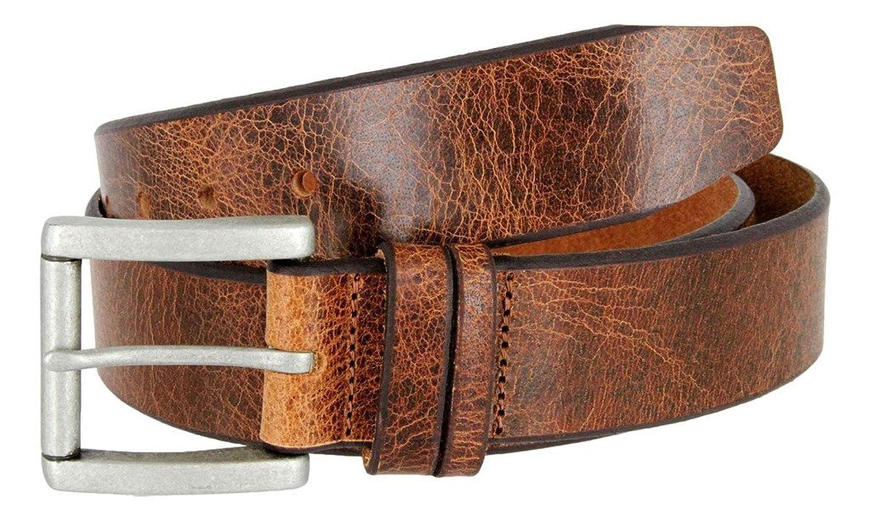 """Women's Double Loop Bridle Leather Belt, Tan 1 1/2"""" Wide (Tan, 42)"""