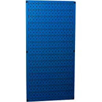 "Wall Control 30-P-3216 BU 32"" x 16"" Blue Metal Pegboard Tool Board Panel"