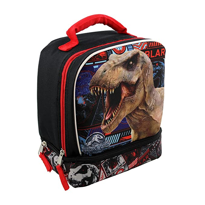 Amazon.com | Jurassic World 6 piece Backpack and Lunch Box School Set (Black) | Kids Backpacks
