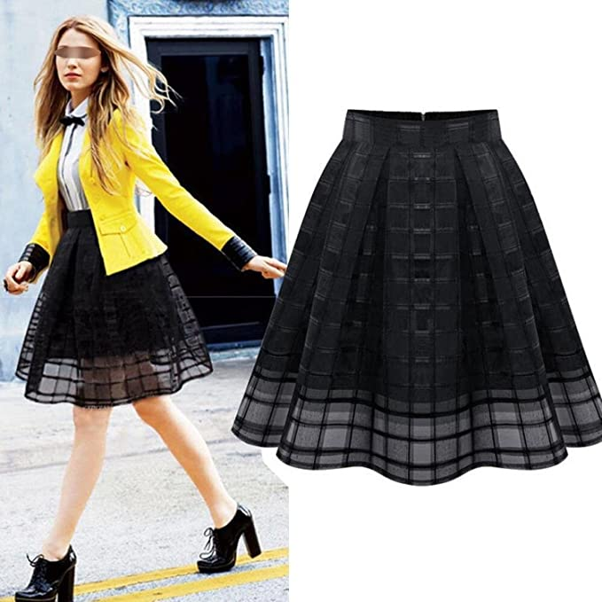 recognized brands best hot-seeling original B dressy Skirts Fashion Women High Waist Organza Skirts ...