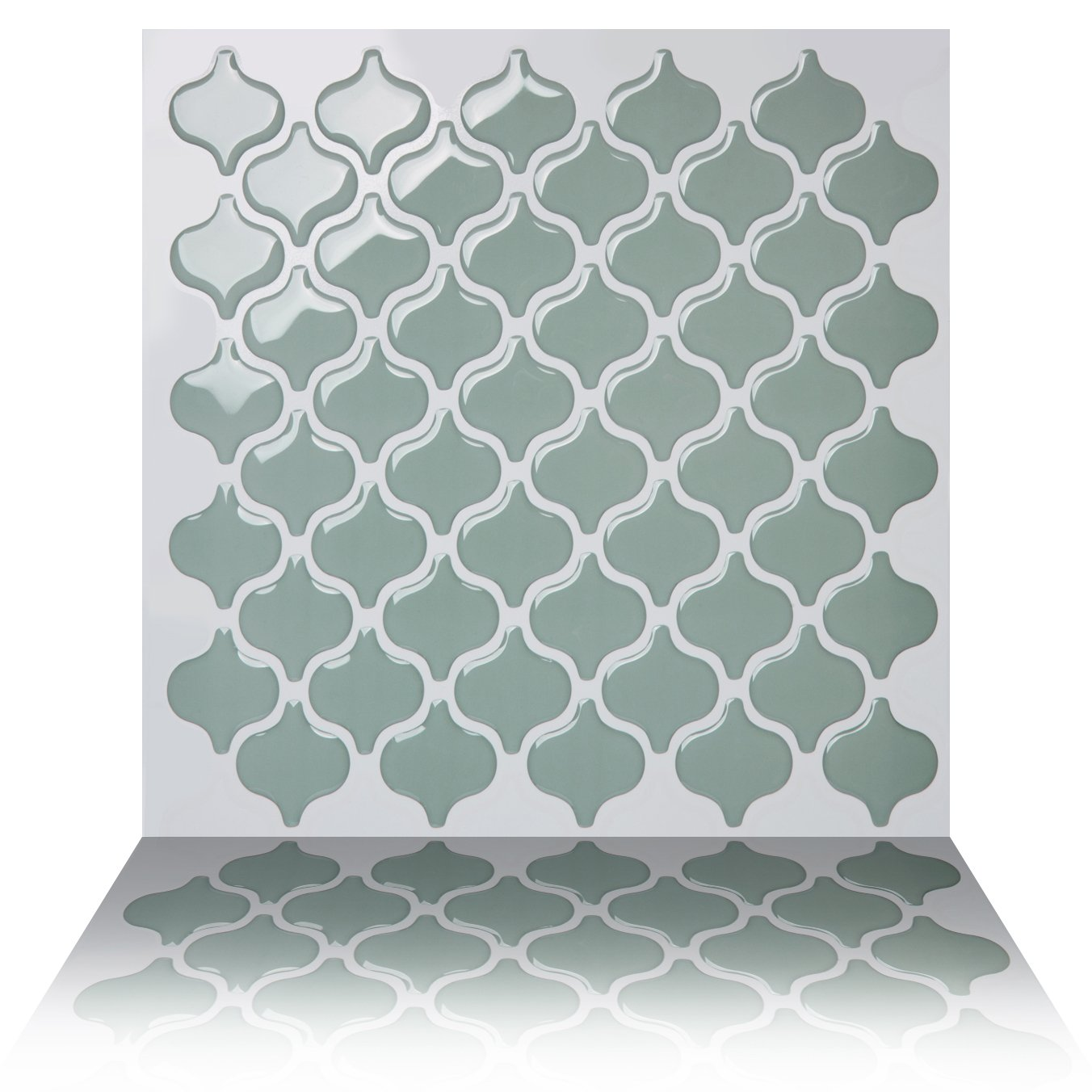 Amazon.com: Tic Tac Tiles Anti-mold Peel Stick Wall Tile in Damask ...