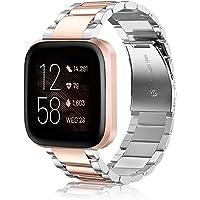 Fintie Metalen Bandje Armband Voor Fitbit Versa/Fitbit Versa Lite, Premium Kwaliteit Schakel Bandje Polsband Strap RVS…
