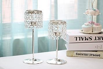 Abendessen eisen kristalle romantische kerzen hochzeit restaurant ...