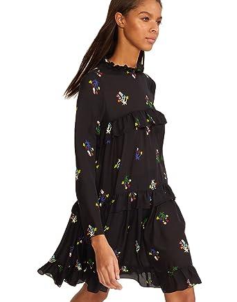 df388a1f57b Amazon.com  Cynthia Rowley Women s High Tide Tiered Ruffle Knee Length Dress   Clothing