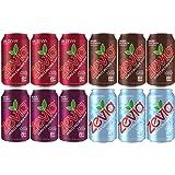 Zevia Soda Zero Calorie Sugar Free (12 pack) Ginger Root Beer, Black Cherry, Caffeine Free Cola, Dr. Zevia, Organic, Vegan, Gluten Free, Stevia Sweetened Keto Drinks