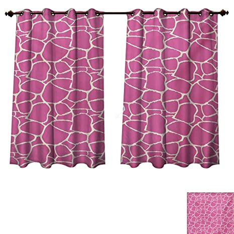 Superbe RuppertTextile Hot Pink Bedroom Thermal Blackout Curtains Abstract Giraffe  Skin Pattern Vivid Color Exotic Animal Camouflage