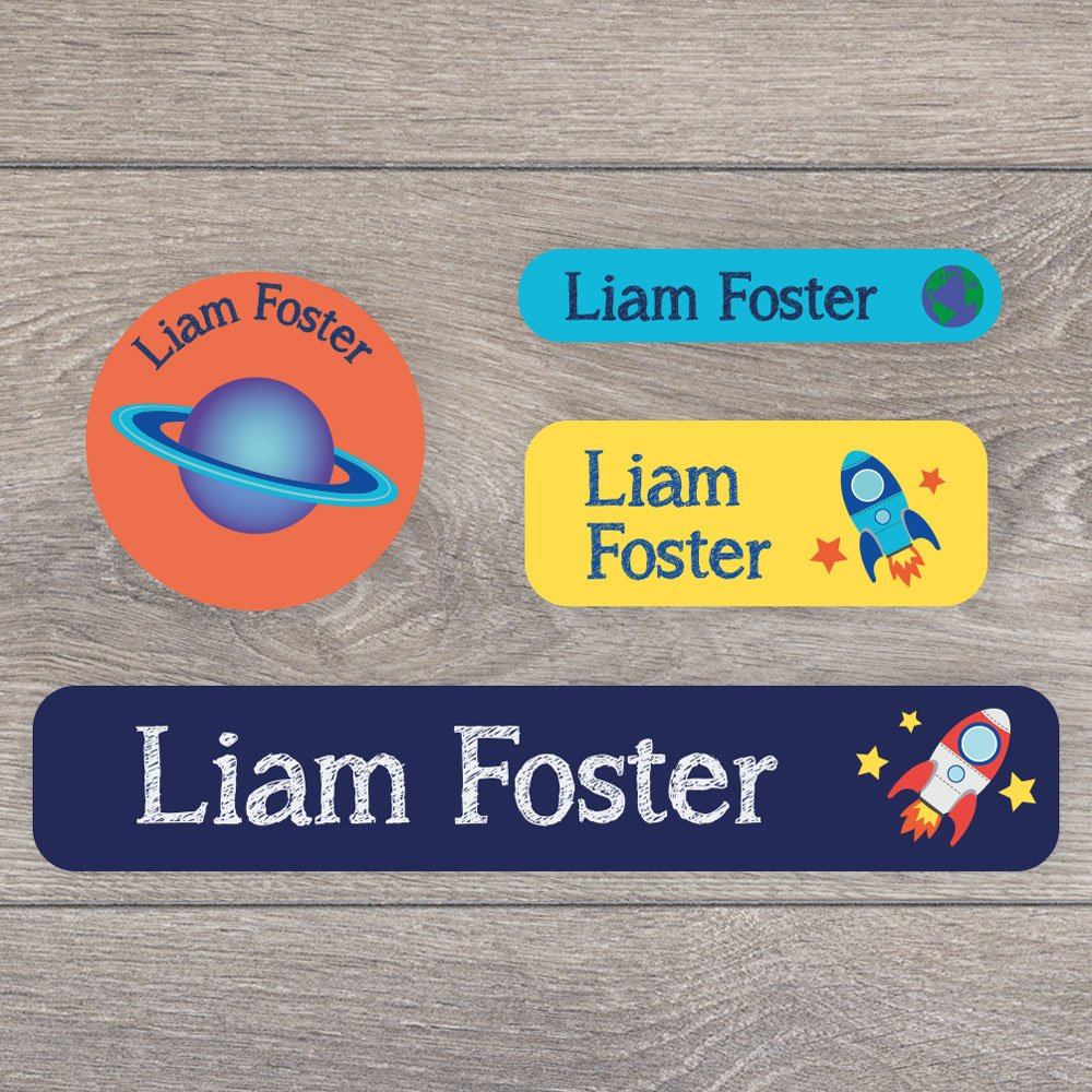136 Stick on name labels for children - A range of fantastic designs to choose - Perfect for labelling tuppaware, shoes, stationery, lunchboxes etc Stickerscape