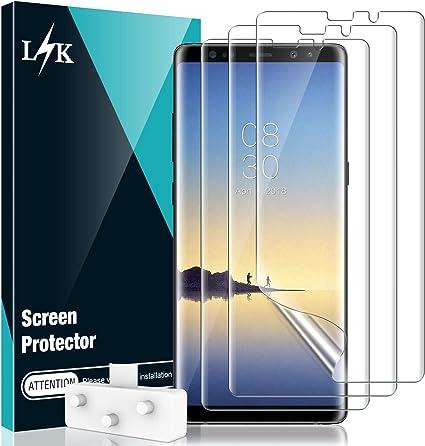 LϟK 3 Pack Protector de Pantalla para Samsung Galaxy Note 8, HD Película Flexible Transparente [Película de TPU] [Sin Burbujas] [Funda Compatible] [Sin Bordes Levantados] [Instalación Fácil]: Amazon.es: Electrónica