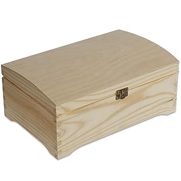 Creative Deco Caja Madera para Decorar | 30 x 20 x 14 cm | con Curvo