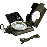 Eyeskey Waterproof Navigation Compass with Inclinometer Multifunction Military Metal Army Sighting Compass for Outdoor Camping Hiking Compass Walking Biking Army Green