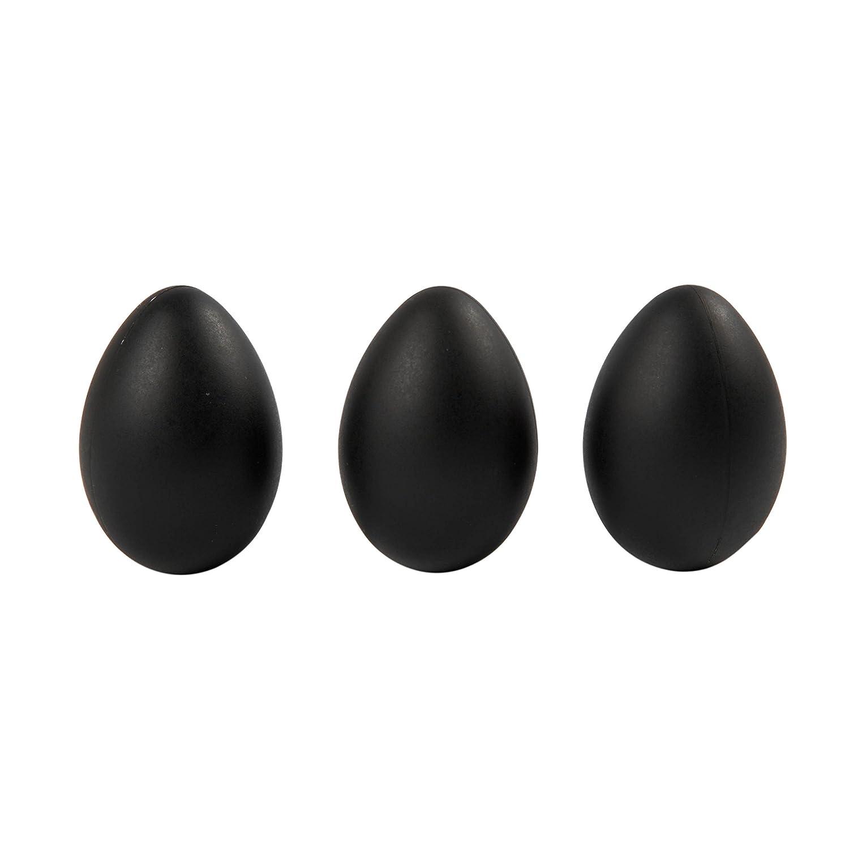 ca Kunsstoff Creotime Ostereier zum Basteln schwarz 12 St/ück H 6 cm