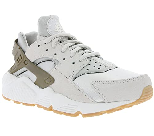 Nike Damen W Air Huarache Run PRM Suede Turnschuhe, grau