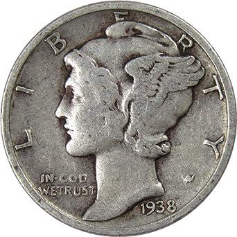 Key date 1938-D  MERCURY DIME