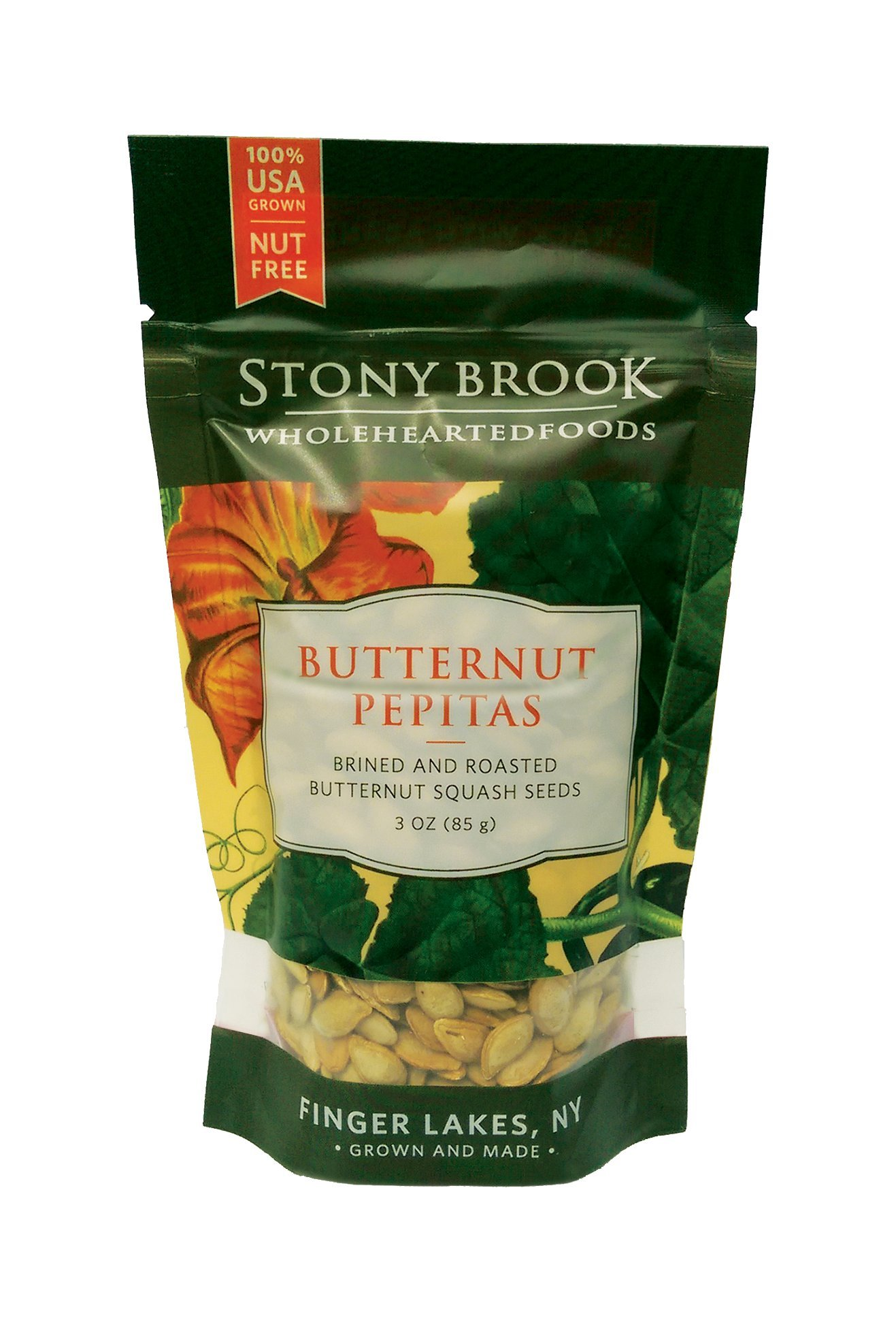 Stony Brook Butternut Pepitas, 3 ounce bags (pack of 6)
