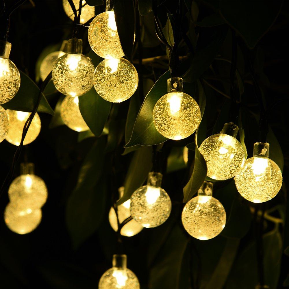 Litom catena luminosa luci della stringa solare 30 led 6 metri per ...