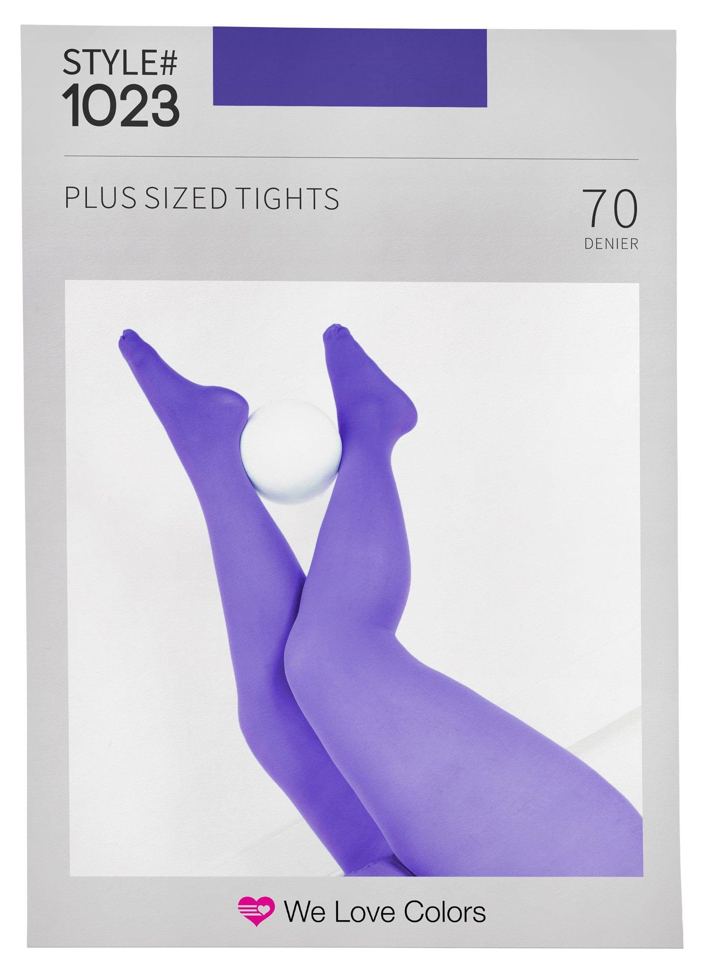 Nylon/Spandex Plus Size Tights - Lavender - 1X